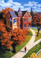 rob gonsalves optical illusion the treehouse in the house