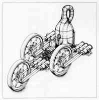 roger shepard optical illusion impossible three wheeled machine