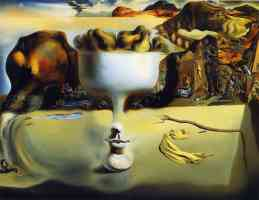 salvador dali optical illusion high bowl of pears
