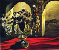 salvador dali optical illusion man and dancers