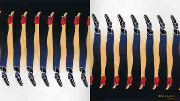 shigeo fukuda optical illusion high heels and suit trousers