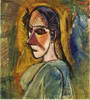 picasso 1900s bust of damsel of avignon