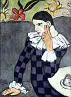 picasso 1900s harlequin sitting