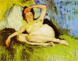 picasso 1900s jeanne reclining nude