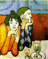 picasso 1900s the two entertainers