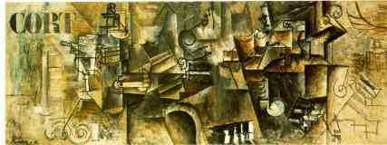 picasso 1910s still life of a piano