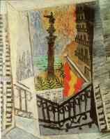 picasso 1910s view of the columbus monument