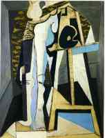 picasso 1920s interior with easel