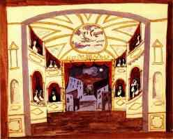 picasso 1920s pulcinella interior hallway
