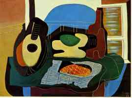 picasso 1920s still life with cake