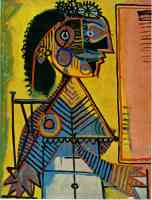 picasso 1930s black haired woman