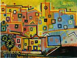 picasso 1930s colourful town