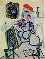 picasso 1930s female in a red hat
