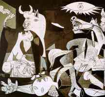 picasso 1930s guernica detail