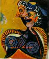 picasso 1930s orange woman