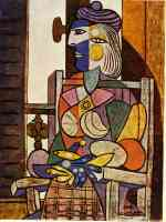 picasso 1930s portrait of marie therese sitting