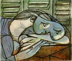 picasso 1930s sleeper with shutters closed