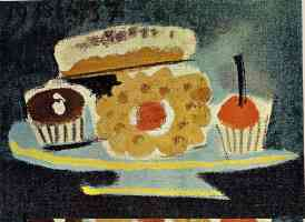 picasso 1930s still life of cakes