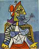 picasso 1930s woman sitting