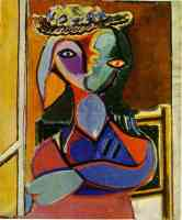 picasso 1930s woman with arms folded