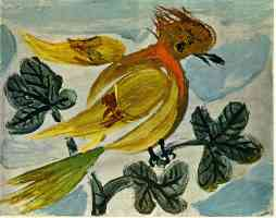 picasso 1930s yellow songbird