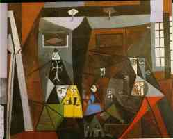 picasso 1950s interior with children