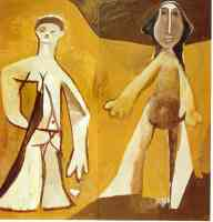 picasso 1950s man and woman