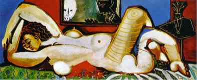picasso 1950s naked woman lying with voyeurs