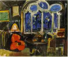 picasso 1950s nightime interior