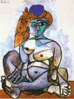 picasso 1950s nude woman in a turkish cap