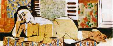 picasso 1950s nude woman lying and reading