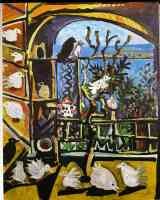 picasso 1950s pigeons in the workshop 2