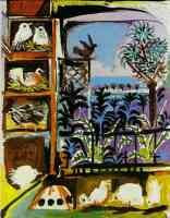 picasso 1950s pigeons in the workshop