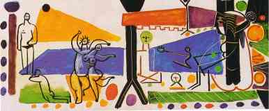 picasso 1950s the beach at garoupe in summer