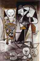picasso 1950s woman who draws surrounded by children