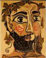 picasso 1960s homme barbu