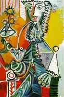 picasso 1960s musketeer with pipe and flowers