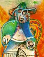 picasso 1960s old man sitting
