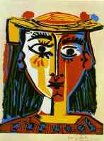 picasso 1960s woman in a hat
