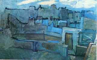picasso blue period the roofs of barcelona