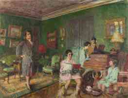 edouard vuillard post impressionist madame andre wormser and her children