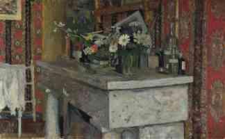 edouard vuillard post impressionist the mantelpiece