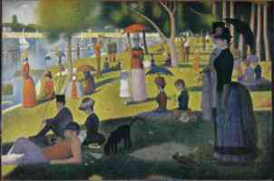 georges seurat post impressionist a sunday afternoon on the island of la grande jatte