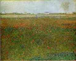 georges seurat post impressionist alfalfa fields saint denis