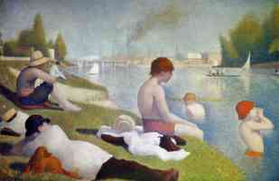 georges seurat post impressionist bathing at asnieres