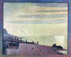georges seurat post impressionist honfleur evening