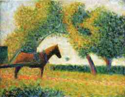 georges seurat post impressionist horse and cart