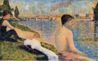 georges seurat post impressionist seated bather