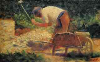 georges seurat post impressionist stone breaker and wheelbarrow le raincy