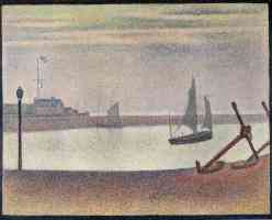 georges seurat post impressionist the channel at gravelines evening